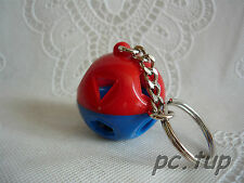 Ballon surprise rouge et bleu GRAND anneau mini Tupperware (Porte clé keychain)