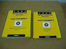 1994 Dodge Colt Eagle Summit shop service dealer repair manual NICE SET