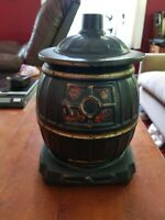 VINTAGE McCOY POT BELLY STOVE COOKIE JAR