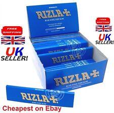 NEW RIZLA BLUE KING SIZE SLIM GENUINE CIGARETTE SMOKING ROLLING PAPERS ORIGINAL