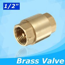 "1/2"" Female to Female Non-return Check Brass Ball Valve Water Tank Spring Loaded"