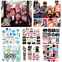 Party Props Photo Booth Fun Moustache Birthday Wedding Baby Shower Selfie Decor