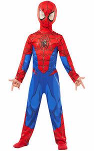Boys Ultimate SPIDER-MAN Licensed Spiderman Fancy Dress Superhero Marvel Costume