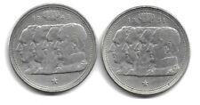 Belgique 1949 - 1951 - 2 x 100 francs - Prince Charles - Argent - NDL - (E9)
