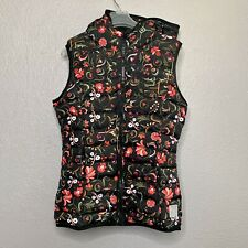 Adidas Floral Puffer Vest Hooded Multicolor Women's Size XS NWOT