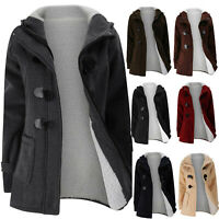 Women's Hooded Wool Coat Trench Jacket Winter Warm Long Parka Overcoat Outwear