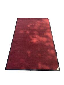 Floor Mat Heavy Duty Commercial Indoor Outdoor Mats- Red  Used  *Free Ship
