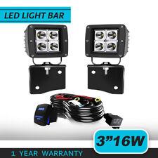 2X3INCH 24W  LED Work Light Pod+Mount Bracket For 97-06 Jeep Wrangler TJ Pair