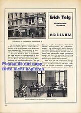 Büromaschinen Telg Breslau XL Reklame 1923 Schreibmaschine Continental Werbung