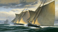"""End of Day One - The Great Transatlantic Race, 1866"" Don Demers Giclee Canvas"