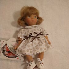 Gotz Doll Blond hair, blue eyes, duck dress 7 inches tall with tags