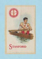 c1910s S22 Murad Cigarettes tobacco silk STANFORD UNIVERSITY ROWER / CREWE
