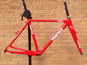Paul Milnes X-Wing Carbon Cyclocross Bike Frameset Canti Cantilever Brake - Red