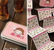 Novel Momo Cute Girl's Cards Stickers Box Container Diary Decoration Note New