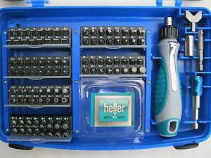 Heller Bit- Set 102 tlg Bitsatz Sortiment Spezial- Sicherheitsbits Bitset Bits