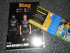 MANSFIELD TOWN  v  SHEFFIELD WEDNESDAY + DERBY  2018/19 PSF ~ JULY ** SELL OUT**