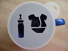 LASER CUT Baby Shower design caffè e Craft Stencil