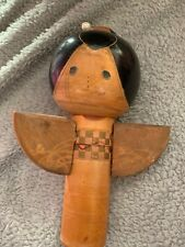 Vintage japanese wooden doll Angel With Red Stamp Needs Some Care And Attention