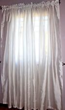 """RT DESIGNERS COLLECTION THREE PANELS ~ WHITE 84"""" CURTAINS WPL 13379"""