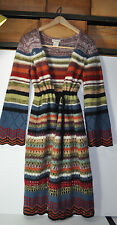 ANTHROPOLOGIE RELAIS MULTICOLOR VARIEGATED MAXI LONG Cardigan SWEATER COAT S