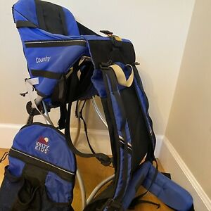 Kelty KIDS Country Child Carrier / Baby Backpack w Zip-Off Bag - Blue Stand Up
