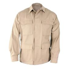BDU SHIRT KHAKI 4 POCKETS BUTTON DOWN POLY COTTON SIZE 3XL