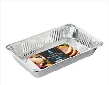 VERY LARGE EXTRA DEEP DISPOSABLE ALUMINIUM FOIL ROASTING DISH CATERING TRAY