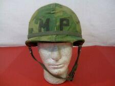 Vietnam M1 Ground Troop Mp Helmet Complete w/Liner & Mitchell Cover Dtd 1966 #2