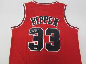 Scottie Pippen Signed Jersey W/COA Mitchell & Ness NBA Swingman