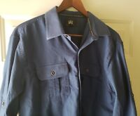 Rock And Republic Mens Shirt Button Down Long Sleeve blue L Size Large