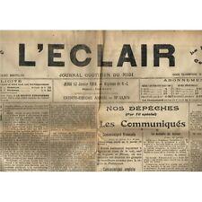 L'ÉCLAIR 13-1-1916 Fête à NAVACELLES-Meurtre de BEAUCAIRE par CARLESI-HYDROMEL