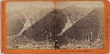 Chamonix Brevent France Montagne Photo Stereo PL28Th1n24 VintageAlbumine