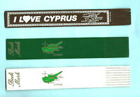 Cyprus Gifts Leather Bookmark Nicolosia Larmaca Paphos Farmagusta Map Souvenir