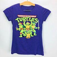 Teenage Mutant Ninja Turtles TMNT Womens Short Sleeve Graphic T Shirt Tee Size L
