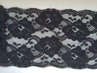 "Quality Pretty Jet  Black  Scalloped Lace 14cm/5.5""  Lingerie Trim Goth Costume"