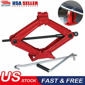 1.5 Ton Scissor Jack Handle Crank Tool Car Van Garage Tire Wheel Lug Wrench Lift