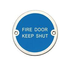 10 Metal Fire door keep shut aluminium 76mm sign with screws - FREE P&P