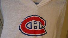 """Women's 18"""" Large NHL HOCKEY MONTREAL CANADIENS HABS Hood Pullover Hoodie Shirt"""