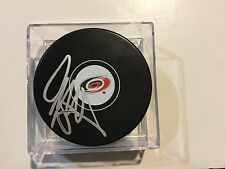 Jay McClement Signed Carolina Hurricanes Hockey Puck Autographed a