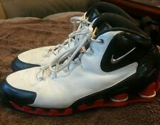 Mens Authentic Nike Shox VC III Vince Carter Size 11.5 White Black Shoes + Box