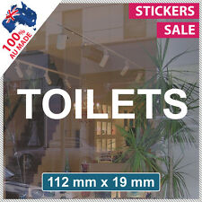 TOILETS Sticker ANY SIZE! Decal Custom Office Shop Sign VINYL LETTERING (1014)