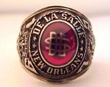 1975 De La Salle High School Class Ring, New Orleans, LA, 10K Gold 17+g