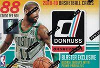 2018-19 Donruss Basketball NBA Trading Cards 88ct BLASTER Box = Auto/Mem OA FS