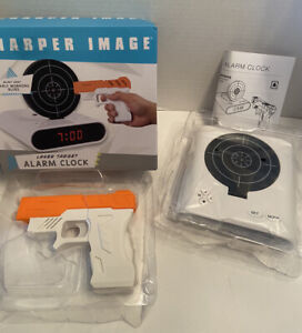 Sharper Image Laser Target Alarm Clock New in open box Battery Operated