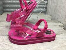 Disney Mini Mouse Flip Flops Sling Back Bow Pink Swimming Shoe Size 5-6 C