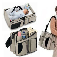 Baby Carry Cot Changing Bag Travel bag Changing Station 3 in 1 Beige