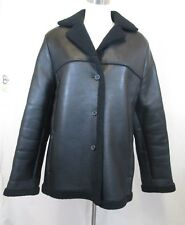 Jones New York Women's Buttery Glove Leather Coat with Fleece Lining Black Large