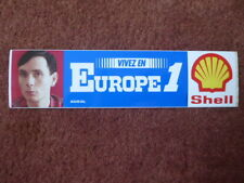 AUTOCOLLANT STICKER AUFKLEBER RADIO EUROPE 1 SHELL MANEVAL
