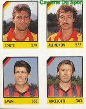 123 CONTE - ALEINJKOV - EVANI - ANCELOTTI CARD CARTA CALCIO QUIZ VALLARDI 1991