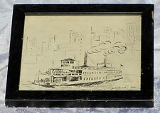 "ORIGINAL ""PEN AND INK"" DRAWING  ""JUDITH NELSON FELDMAN""  VINTAGE ""MARITIME"""